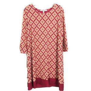41 Hawthorn Stitch Fix Pink White Shift Dress XL